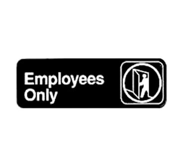 "WINCO 3"" X 9"" SIGN (EMPLOYEES ONLY)"