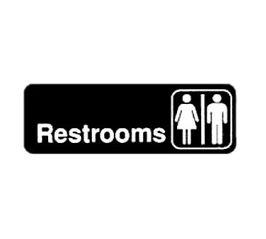 "WINCO 3"" X 9"" SIGN (RESTROOMS)"