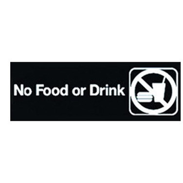 "WINCO 3"" X 9"" SIGN (NO FOOD OR DRINK)"