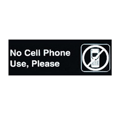 "WINCO 3"" X 9"" SIGN (NO CELL PHONE USE, PLEASE)"