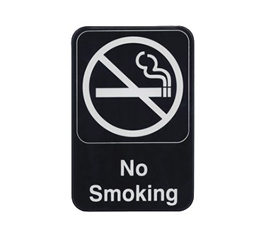 "WINCO 6"" X 9"" SIGN (NO SMOKING)"