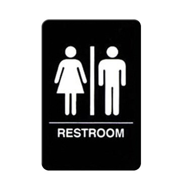 "WINCO BRAILLE 6"" X 9"" SIGN (RESTROOMS)"