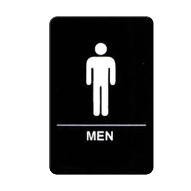 "WINCO BRAILLE 6"" X 9"" SIGN (MEN)"
