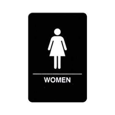 "WINCO BRAILLE 6"" X 9"" SIGN (WOMEN)"